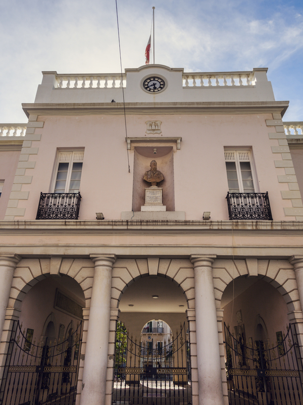 Gibraltar parliament on John Mackintosh Square